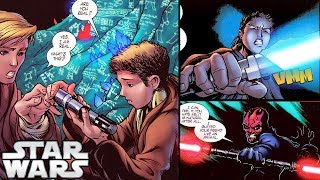 How Anakin BUILT his FIRST Lightsaber (with Darth Maul!) - Star Wars Comics Explained