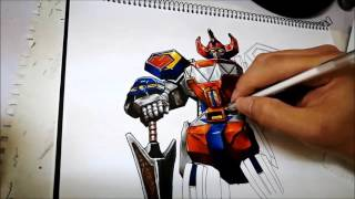 Zyeart - Megazord Time lapse Drawing