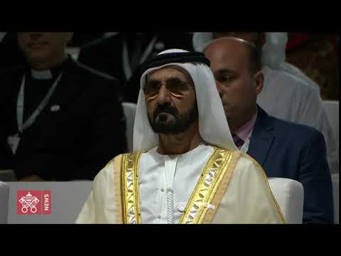 Pope Francis - Abu Dhabi - Interreligious meeting 2019-02-04