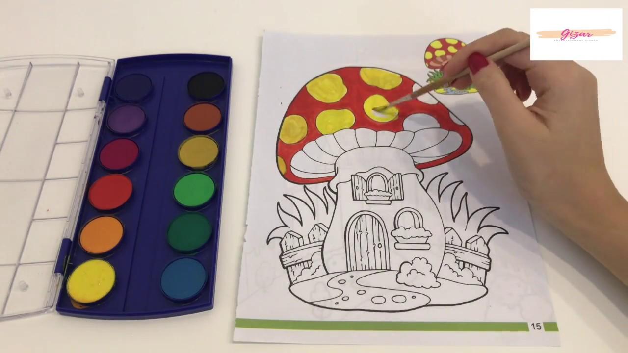 How To Paint Colored Mushrooms Renkli Mantar Boyama Youtube