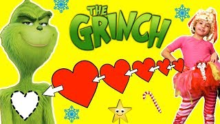 The Grinch Movie Party | PIN THE HEART ON THE GRINCH GAMES, Crafts, Cookies, Candy, Toys