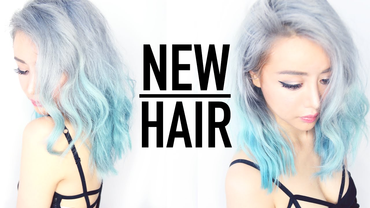 Remove Hair Color In 1 Wash Tutorial Silver Ombre Hair From Blue