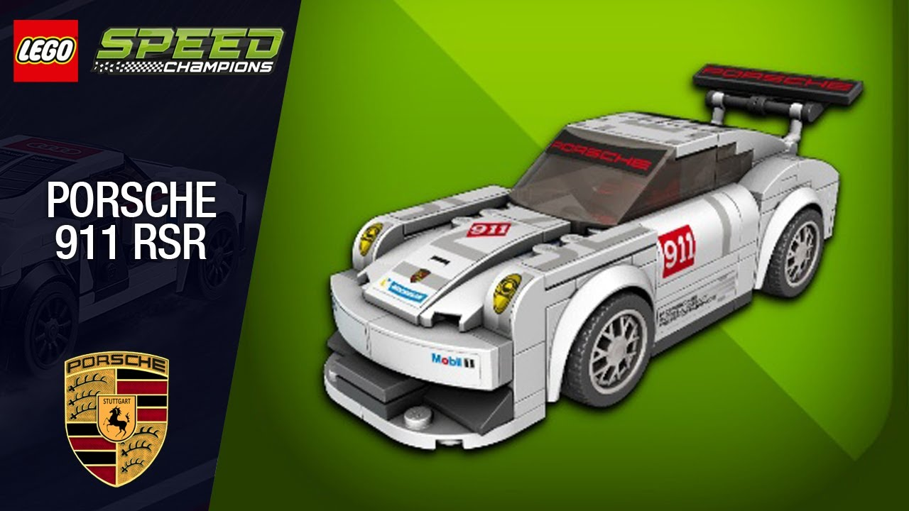 lego speed champions porsche 911 rsr youtube. Black Bedroom Furniture Sets. Home Design Ideas
