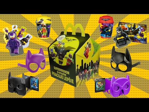 2017 LEGO BATMAN MOVIE Happy Meal EUROPEAN Toys Complete Set of 8 Exclusive McDonalds Toys