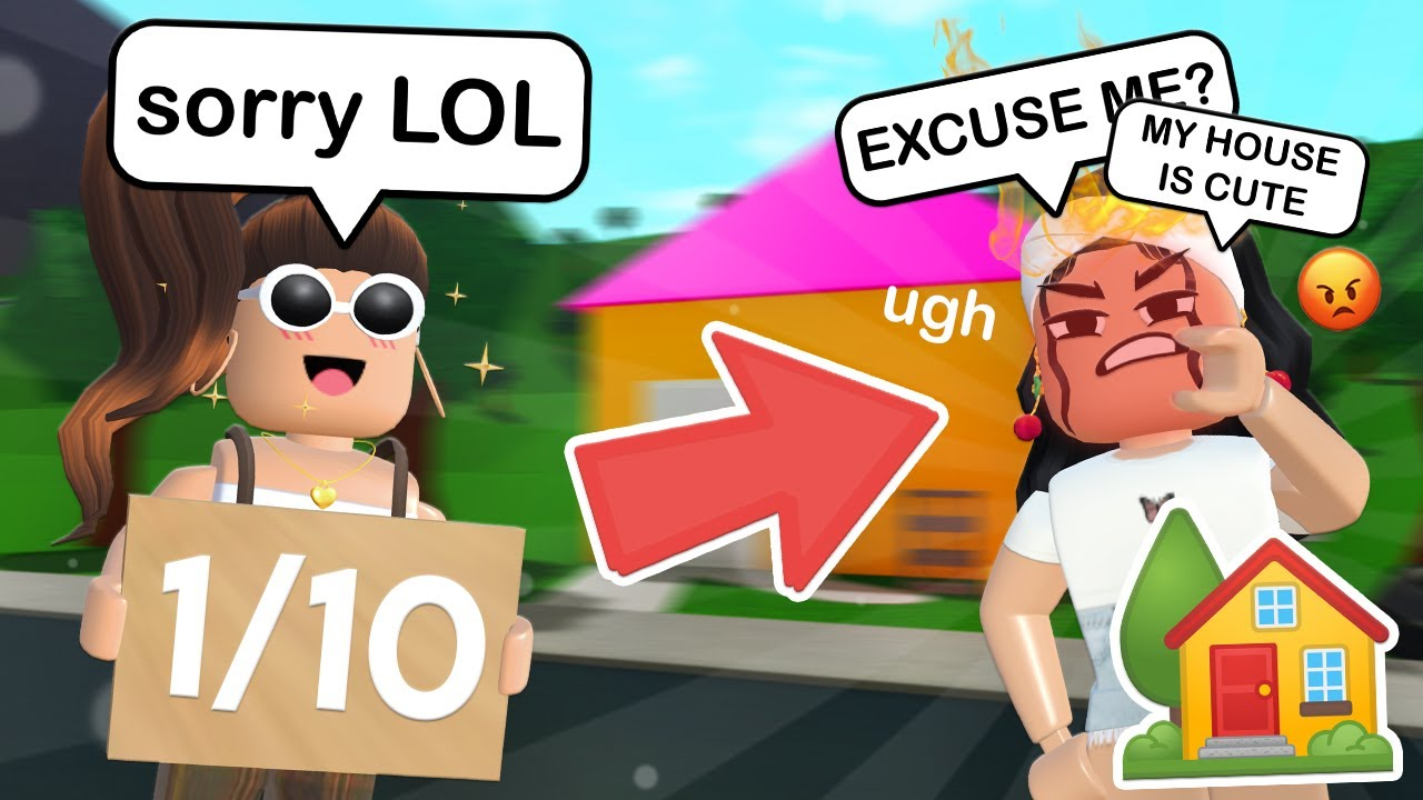 RATING MY FANS HOUSES IN BLOXBURG!! (FUNNY)