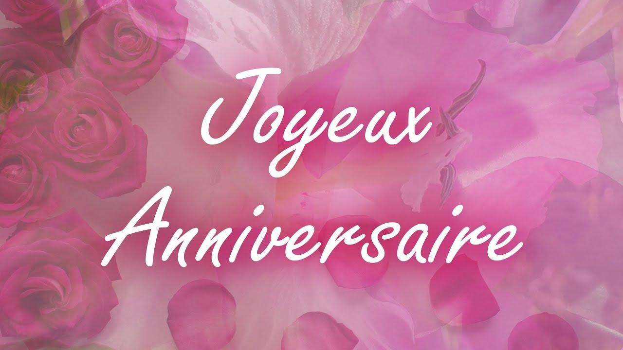Joyeux Anniversaire Jolie Carte Virtuelle D Anniversaire Fleurs Jolie Musique Piano Youtube