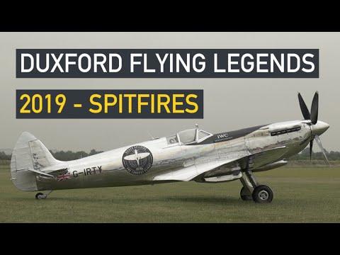 Duxford Flying Legends 2019 - Spitfires - YouTube