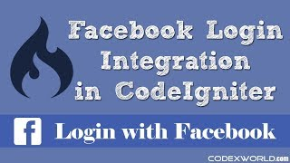 Login with Facebook in CodeIgniter