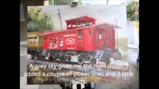 Painting the Cannonball Caboose
