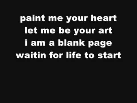 Christina Aguilera Blank Page (Lyrics On Screen)