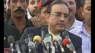 This Video is ristricted/banned in pakistan (Zardari sys shutup)