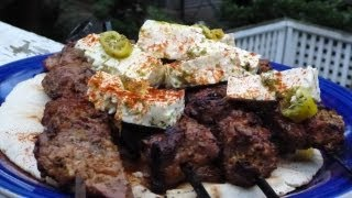 Greek Lamb Kebabs - Greek Lamb Souvlaki With Marinated Feta Cheese - Αρνί Σουβλάκι