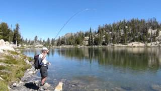 Large Cutthroat Trout Sun Valley Idaho Fly Fishing at 9,000 Feet Alpine Mountain Lake
