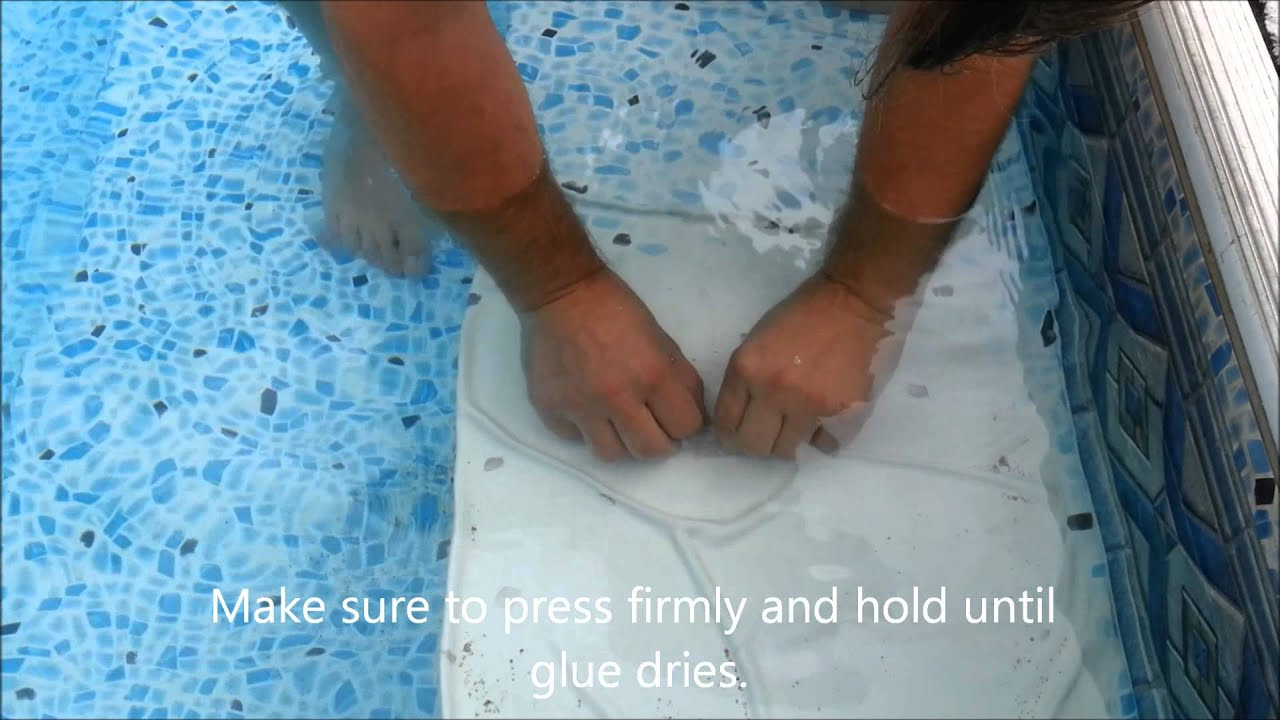 Fixing A Hole Leak In A Swimming Pool Youtube