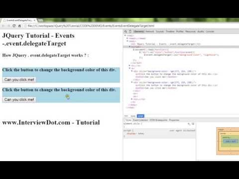 EVENT DELEGATE TARGET PROPERTY IN JQUERY DEMO TAMIL - YouTube
