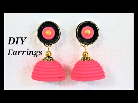 DIY Easy-To-Make Polymer Clay Jhumkas With Noodles | Jewellery Making Tutorial
