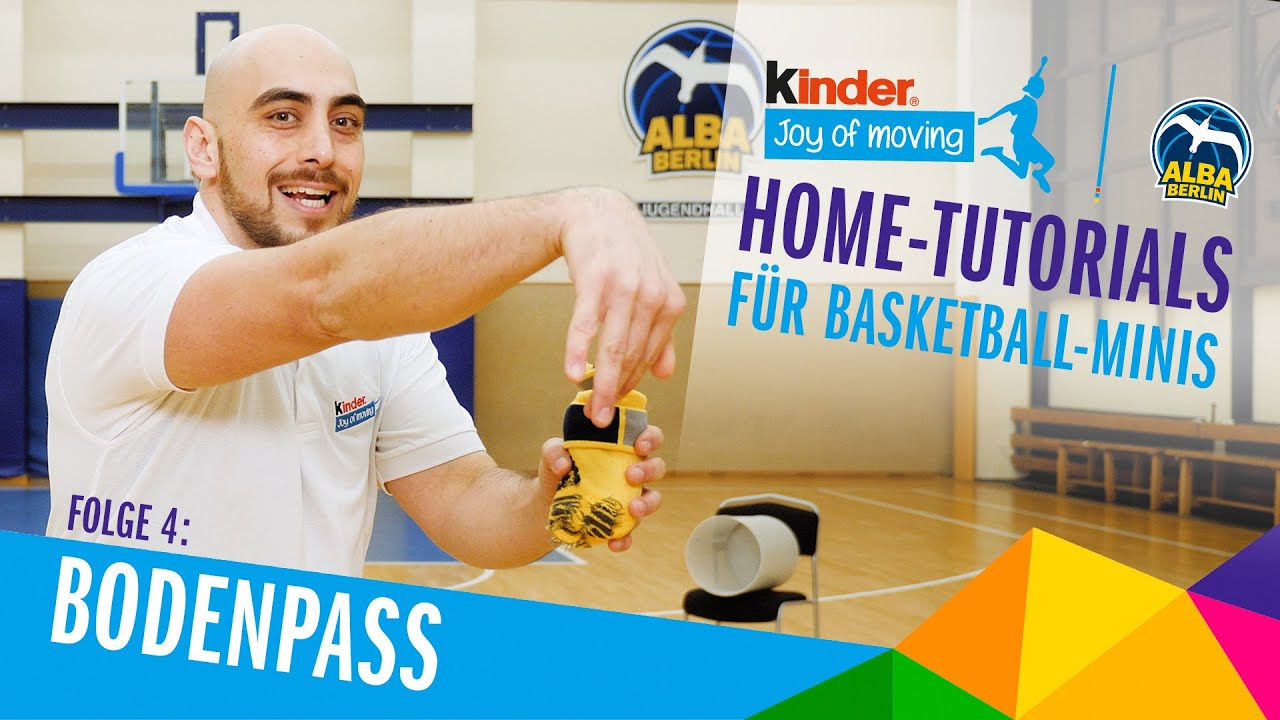 #04 Der Bodenpass | Home-Tutorials mit der Basketball Academy by kinder Joy of Moving