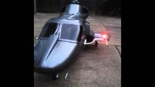 airwolf trex 500 with homemade guns