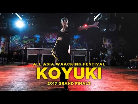 KOYUKI JPN  Judge case  All Asia Waacking Festival Grand Finals 2017