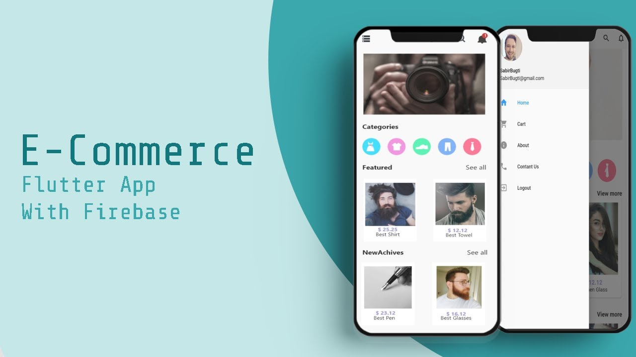 E Commerce App Part 6 Make Beautiful HomePage in Flutter