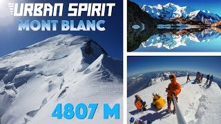 Climbing Mont Blanc, 4807 m, the highest mountain in Alps / Western Europe
