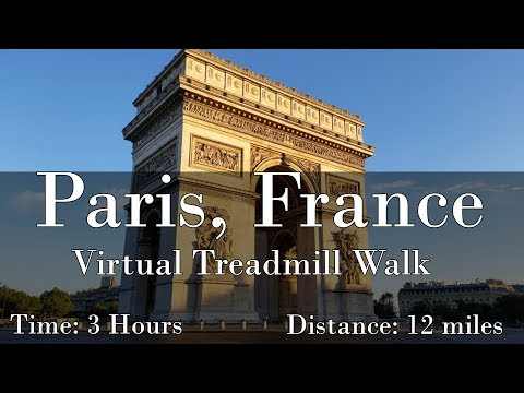Paris, France Virtual Treadmill Walk (with Music)