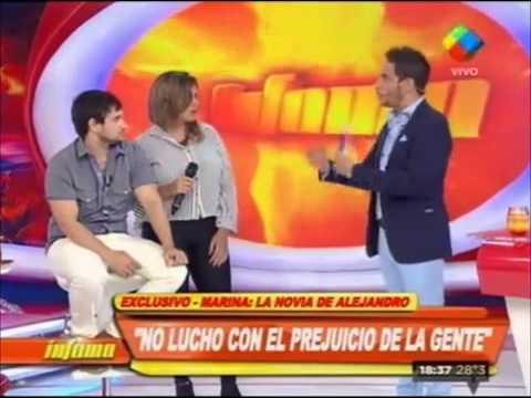 Alejandro Iglesias presentó a su novia en TV