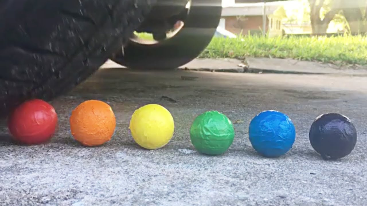 Crushing Bath Bombs And Floral Foam Wet Vs Dry And Frozen By Car Satisfying Asmr