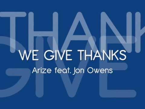 We Give Thanks - Jon Owens