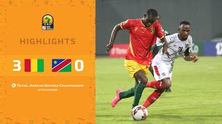 HIGHLIGHTS | Total CHAN 2020 | Round 1 - Group D: Guinea 3-0 Namibia