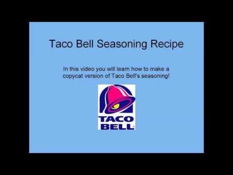 Secret Copycat Taco Bell Seasoning Recipe Youtube