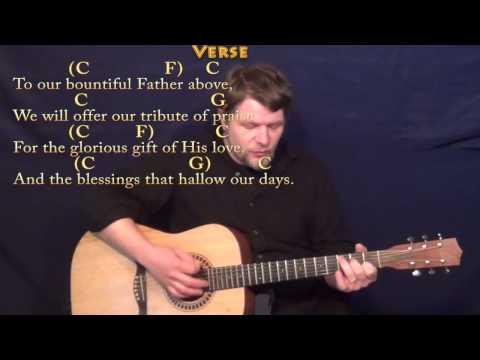 Sweet By and By (Hymn) Strum Guitar Cover Lesson in C with Chords/Lyrics