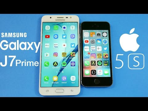 Samsung Galaxy J7 Prime vs iPhone 5S!