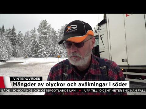 """""""Det är svensk vinter bara - inte så jävla konstigt"""" - Nyheterna (TV4)"""