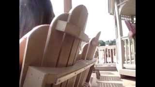 Amish Polywood Cozi-Back 4' Glider Bench (ID: 8434)
