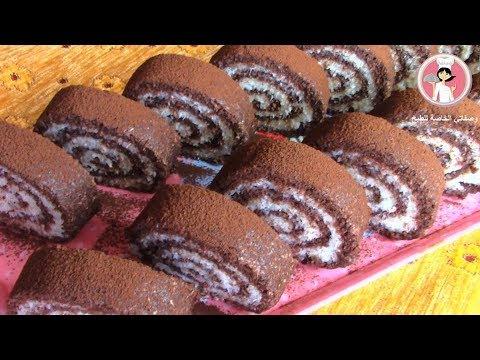 سويسرول باونتي بدون فرن حلى الجوز الهند حلويات سهلة وسريعة التحضير مع رباح محمد ( الحلقة 351 )