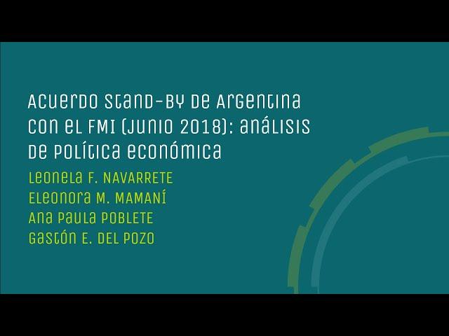 Acuerdo stand-by de Argentina con el FMI (junio 2018): análisis de política económica