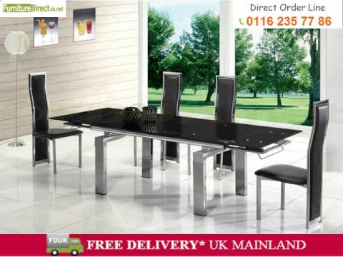 Buy Gl Dining Tables Online At Furniture Direct Uk