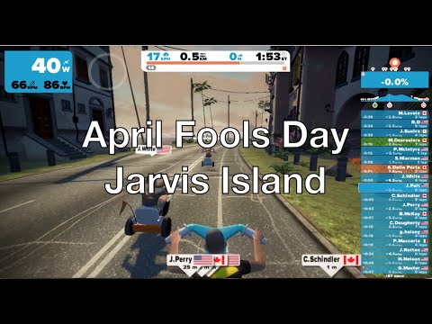 Zwift April Fools Big Wheel