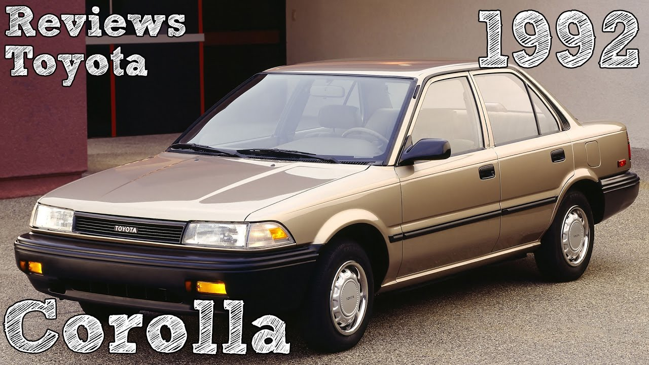 C Max Energi >> Reviews Toyota Corolla 1992 - YouTube