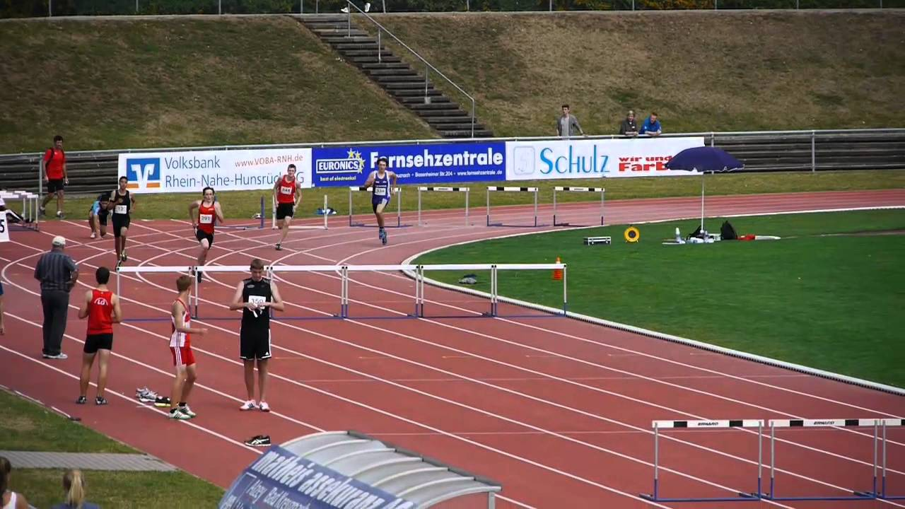 Westdeutsche Meisterschaften 2012 M15 300 M Hurden Youtube