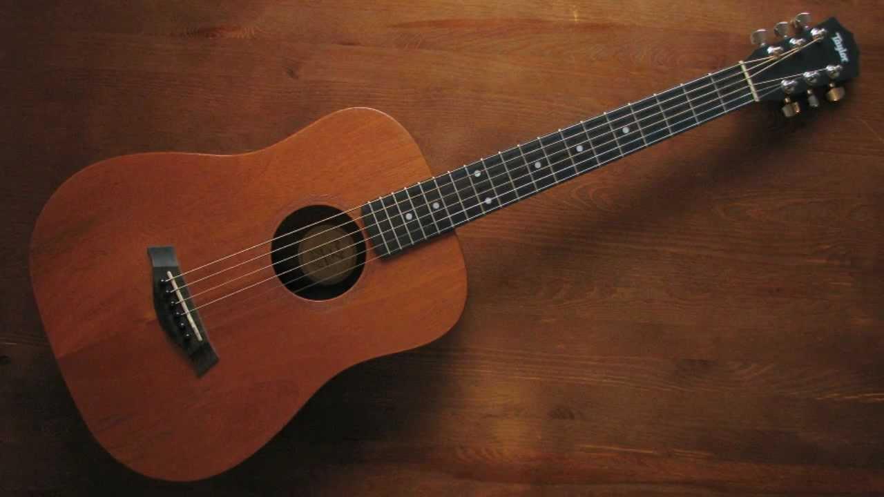 taylor baby m 3 4 size acoustic traveling guitar youtube. Black Bedroom Furniture Sets. Home Design Ideas