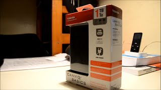 toshiba canvio 1 0 tb usb 3 0 basics portable hard drive unboxing
