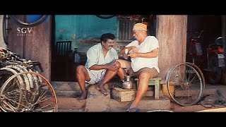 Bank Janardhan and Karibasavaiah Puncture Shop Comedy | Preethi Nee Illade Naa Hegirali  Movie Scene