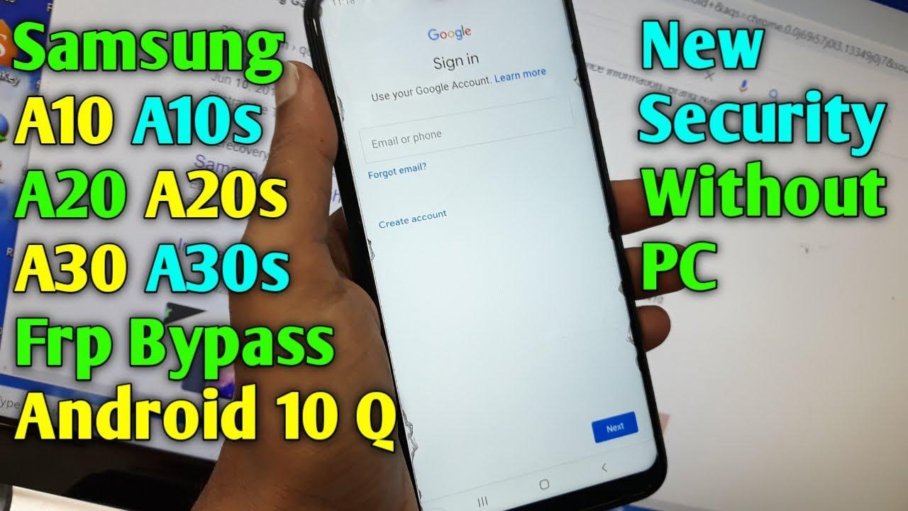 Samsung A10/A10S/A20/A20S/A30/A30S Frp Bypass Android 10 Q | Google Account Unlock | New Security