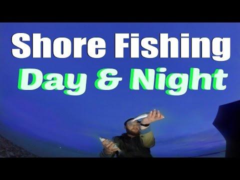 Beach Fishing At Gilkicker Beach Gosport   March 2016 Day & Night