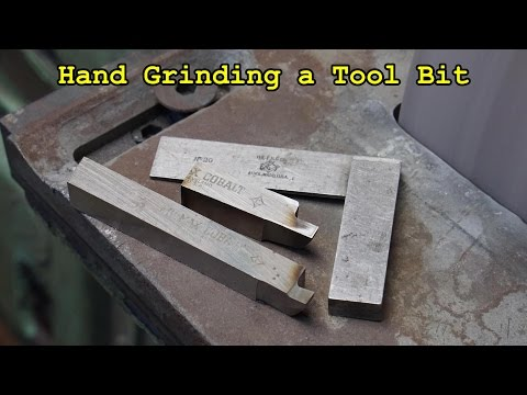 Gearbox Shaft for Well Drilling Part 5: Grinding the Tool Bit for Square Threading
