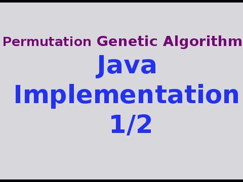 Genetic Algorithms 29/30: Full Java Implementation of Permutation GA 1/2