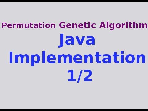 Genetic Algorithms 29/30: Full Java Implementation of Permutation GA 1/2