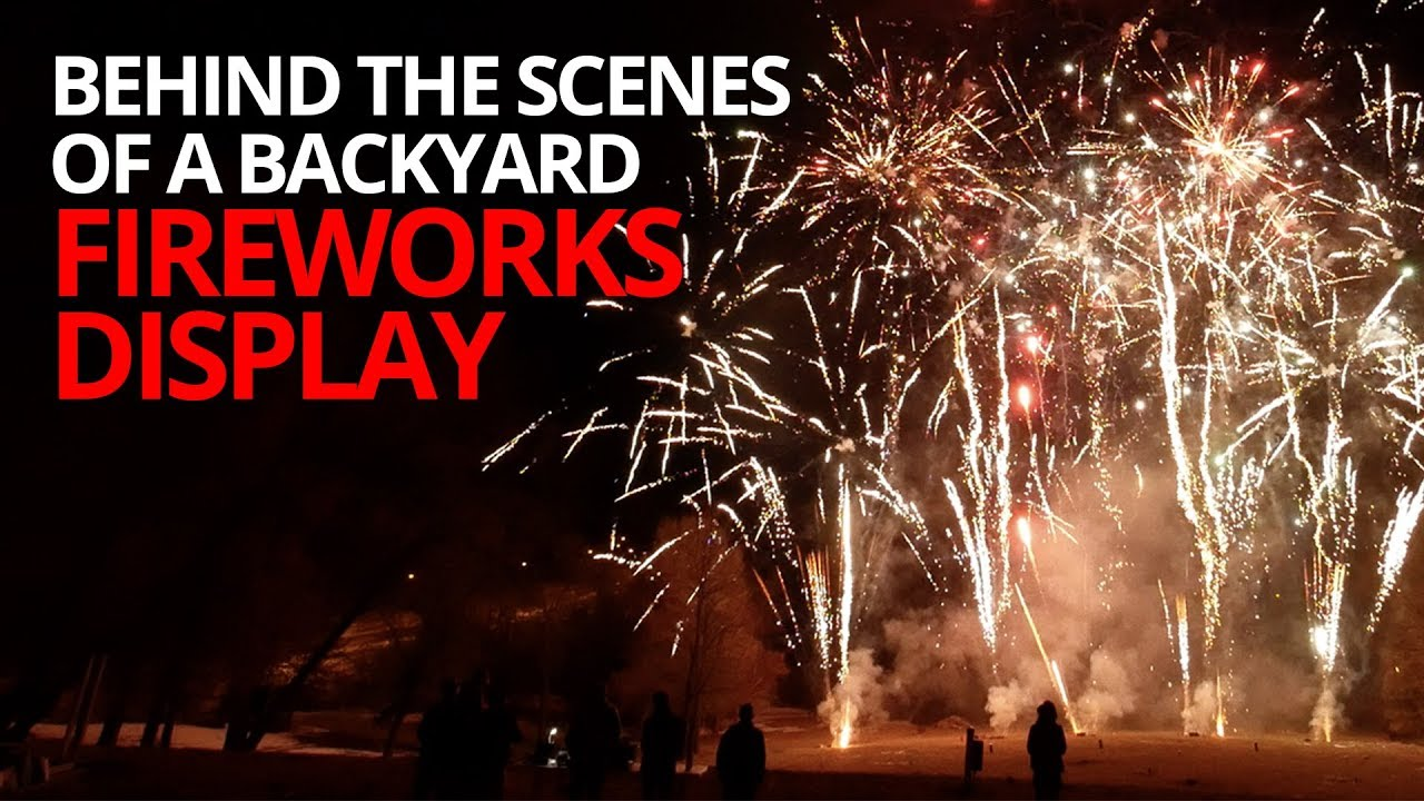 Behind The Scenes Of A Backyard Fireworks Display